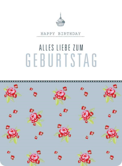 Postkarte Rosen - Alles Liebe zum Geburtstag