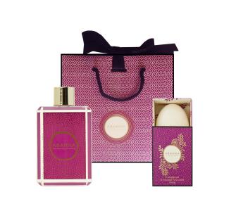 Geschenkset frangipani & orange blossom soap