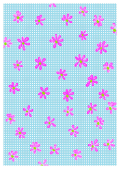 Karte pink blossom