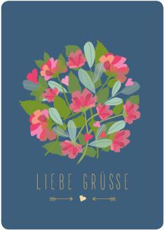 Postkarte Blumenkugel