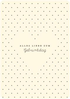 Postkarte Pünktli mini Herz - Alles Liebe zum Gebrurtstag