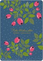 Postkarte Hagebutte - Frohe Weihnachten